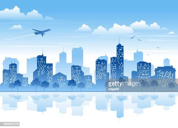 city - cityscape stock illustrations, clip art, cartoons, & icons