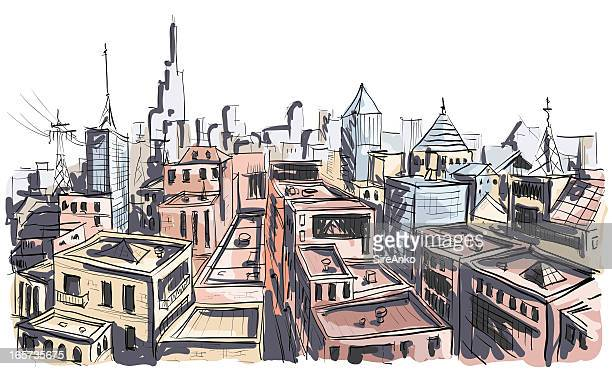 city - borough district type stock illustrations