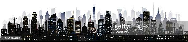 city (123 detailed, complete, moveable buildings) - generic description stock illustrations, clip art, cartoons, & icons