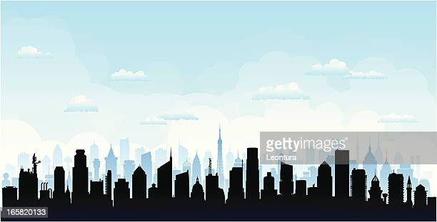 city (buildings are detailed, moveable and complete) - generic description stock illustrations, clip art, cartoons, & icons