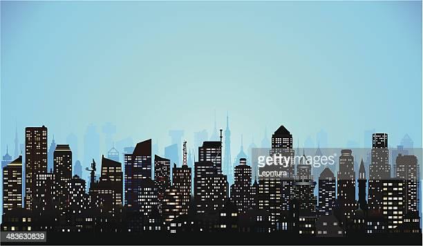 (completa de la ciudad, edificios y móviles, detallada)