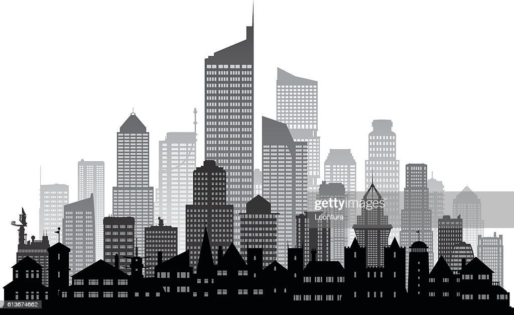 City (Each Building is Moveable and Complete)