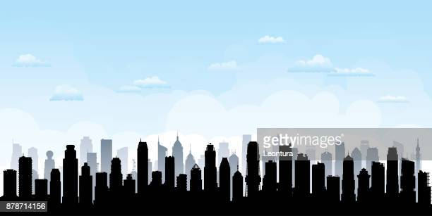 city (all buildings are complete and moveable) - generic location stock illustrations