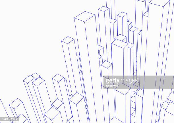 city - building activity stock illustrations