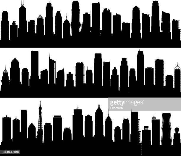city (all buildings are complete and moveable) - generic description stock illustrations, clip art, cartoons, & icons