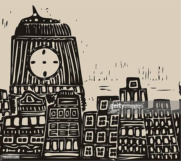 街、タワー - リノリウム点のイラスト素材/クリップアート素材/マンガ素材/アイコン素材