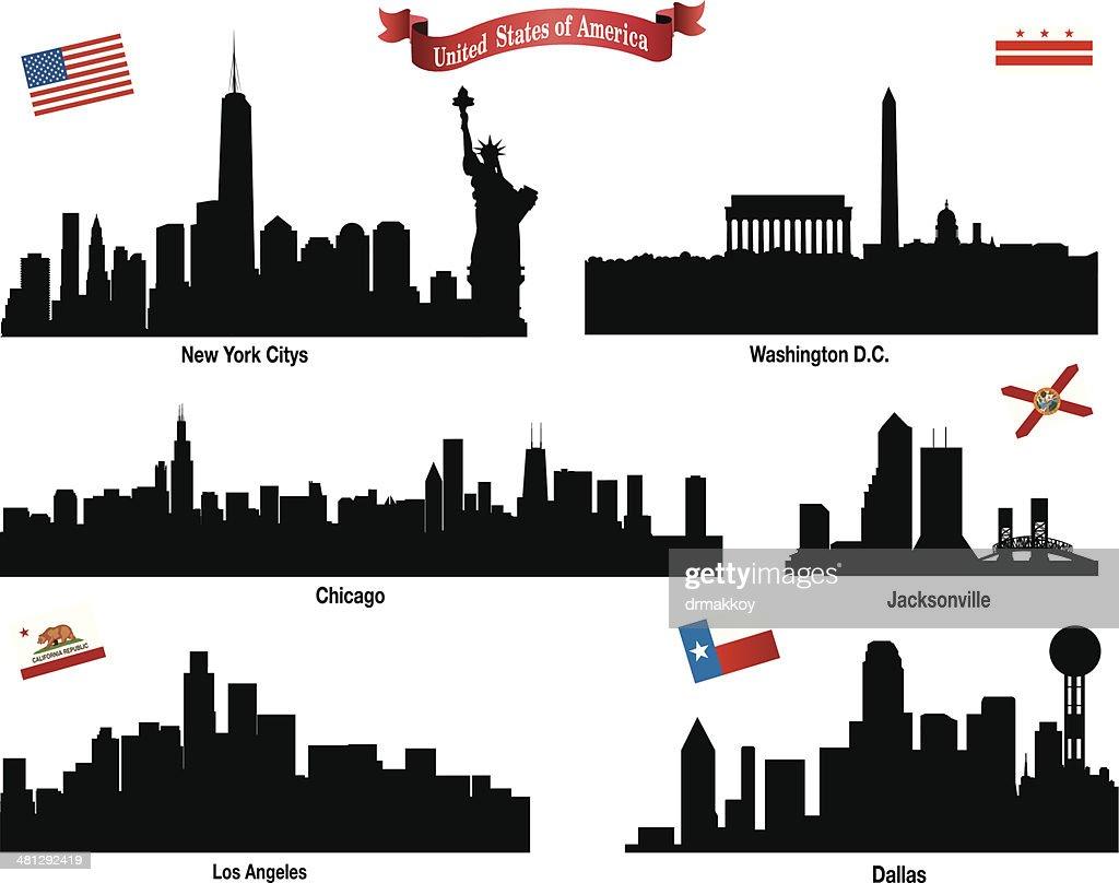 USA Citys Skyline