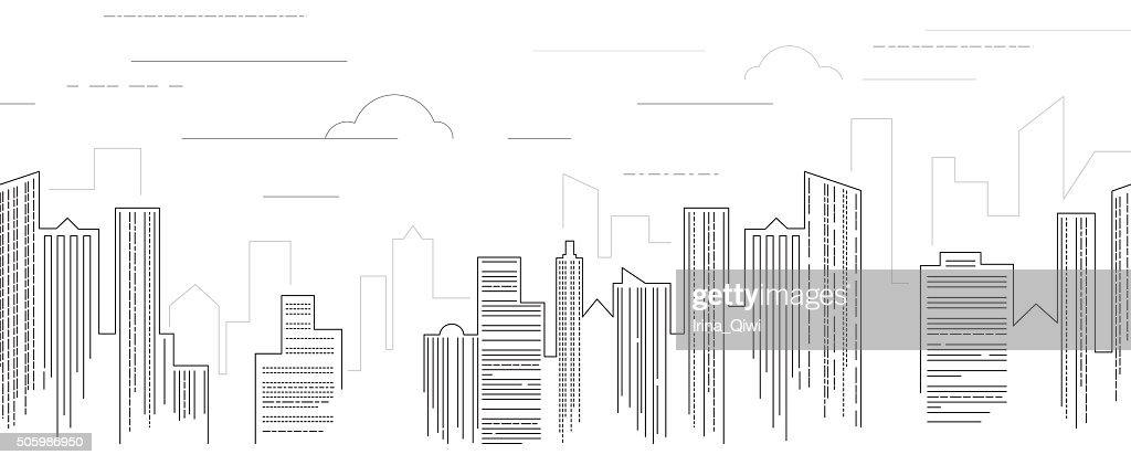 Cityscape black and white