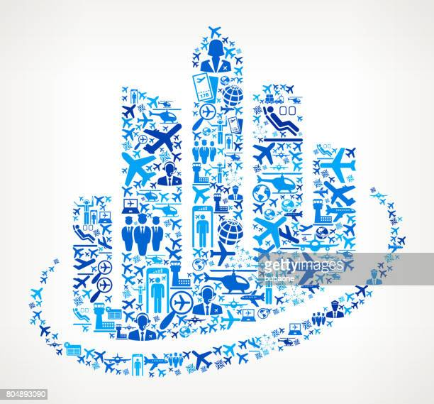 Cityscape Buildings Aviation and Air Planes Vector Graphic