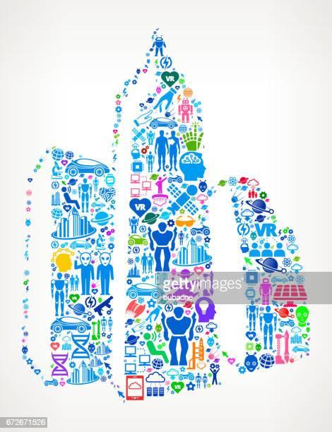 Cityscape  Future and Futuristic Technology Vector Icon Background