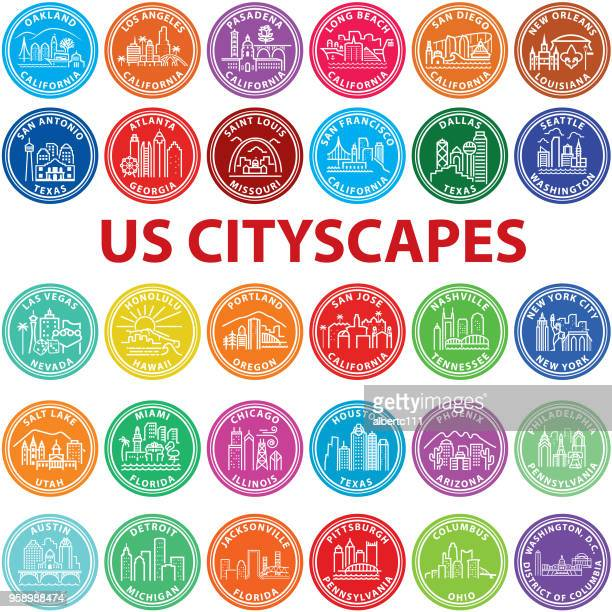 us cityscape graphics - new orleans stock illustrations, clip art, cartoons, & icons