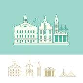 Cityscape of Boston, Massachusetts, USA