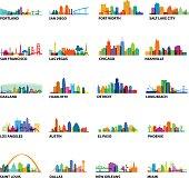 US Cityscape Overlays