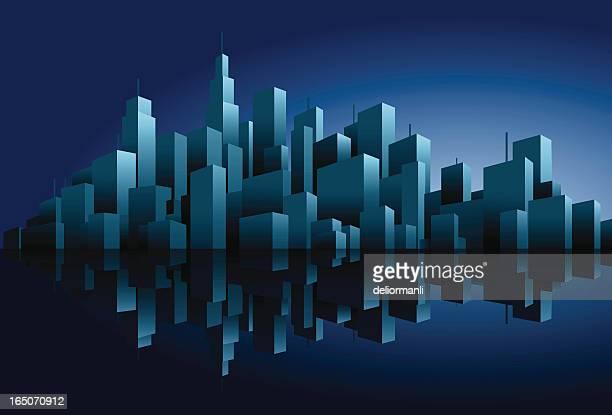 illustrations, cliparts, dessins animés et icônes de paysage urbain silhouette (vecteur) - ville futuriste
