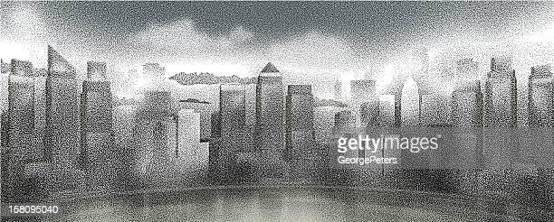 cityscape - lakeshore stock illustrations