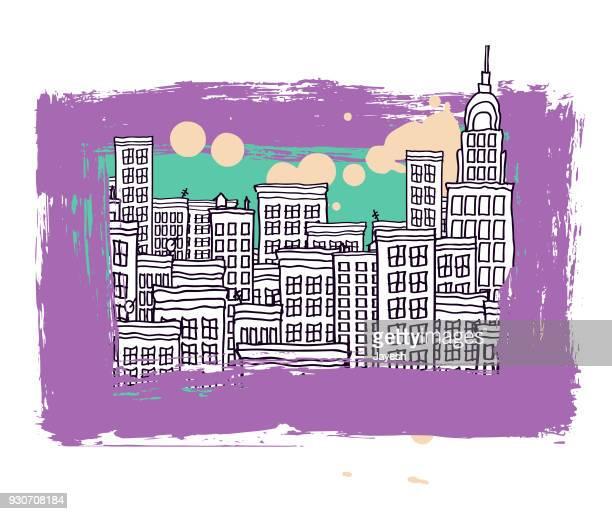 Cityscape vector illustration