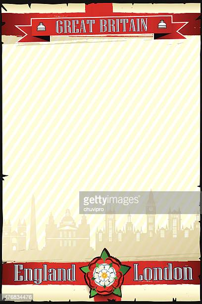 ENGLAND & LONDON cityscape vertical grunge background