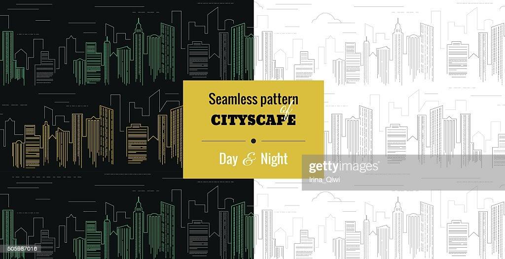 Cityscape_seamless pattern