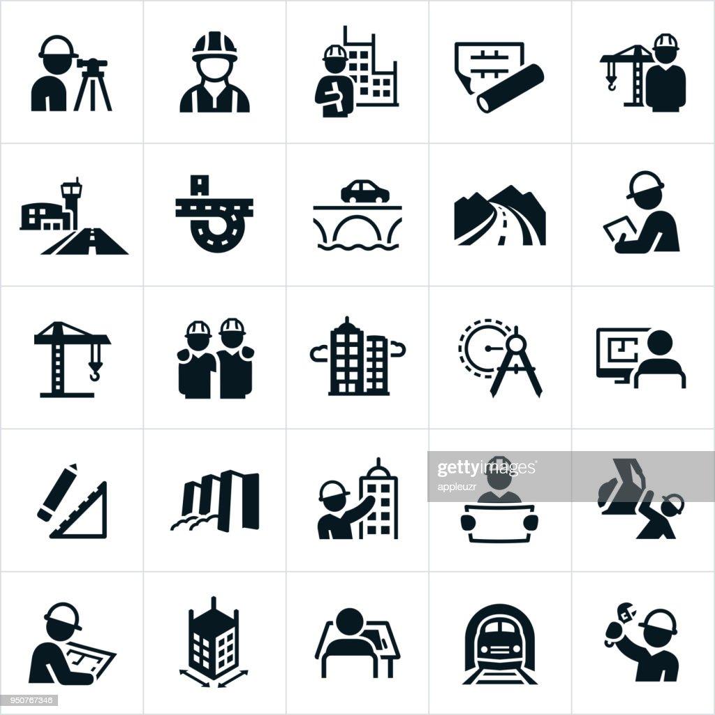 Civil Engineering Icons
