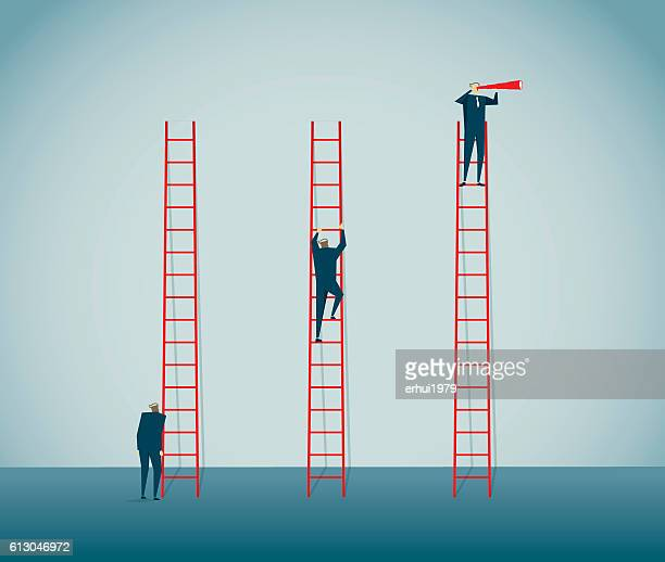 clambering - ladder stock illustrations, clip art, cartoons, & icons