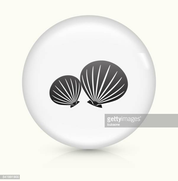Clams icon on white round vector button