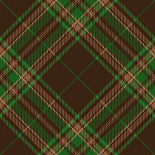 Clan Stewart Brown Scottish Tartan Plaid