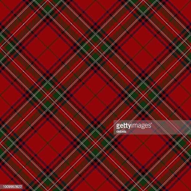 illustrations, cliparts, dessins animés et icônes de clan stewart écossais tartan plaid - scotland