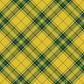 Clan Stewart Yellow Scottish Tartan Plaid Design