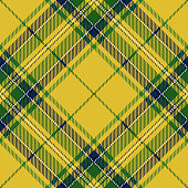 Clan Stewart Yellow Scottish Tartan Plaid