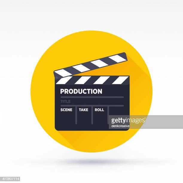 clapboard icon - director stock illustrations