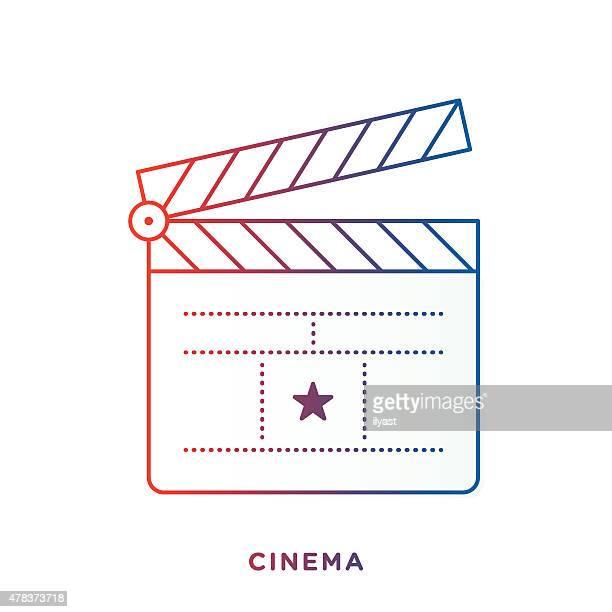clapboard symbol - clapboard stock illustrations, clip art, cartoons, & icons