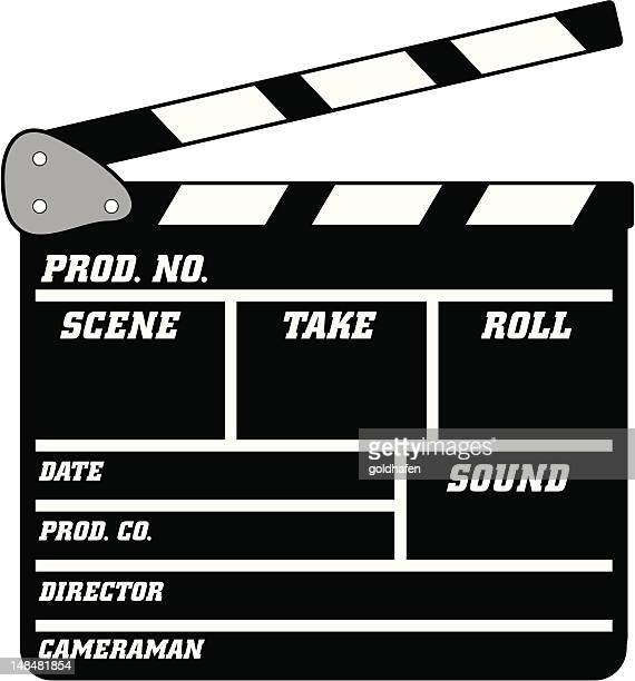 clapperboard - cannes stock illustrations, clip art, cartoons, & icons