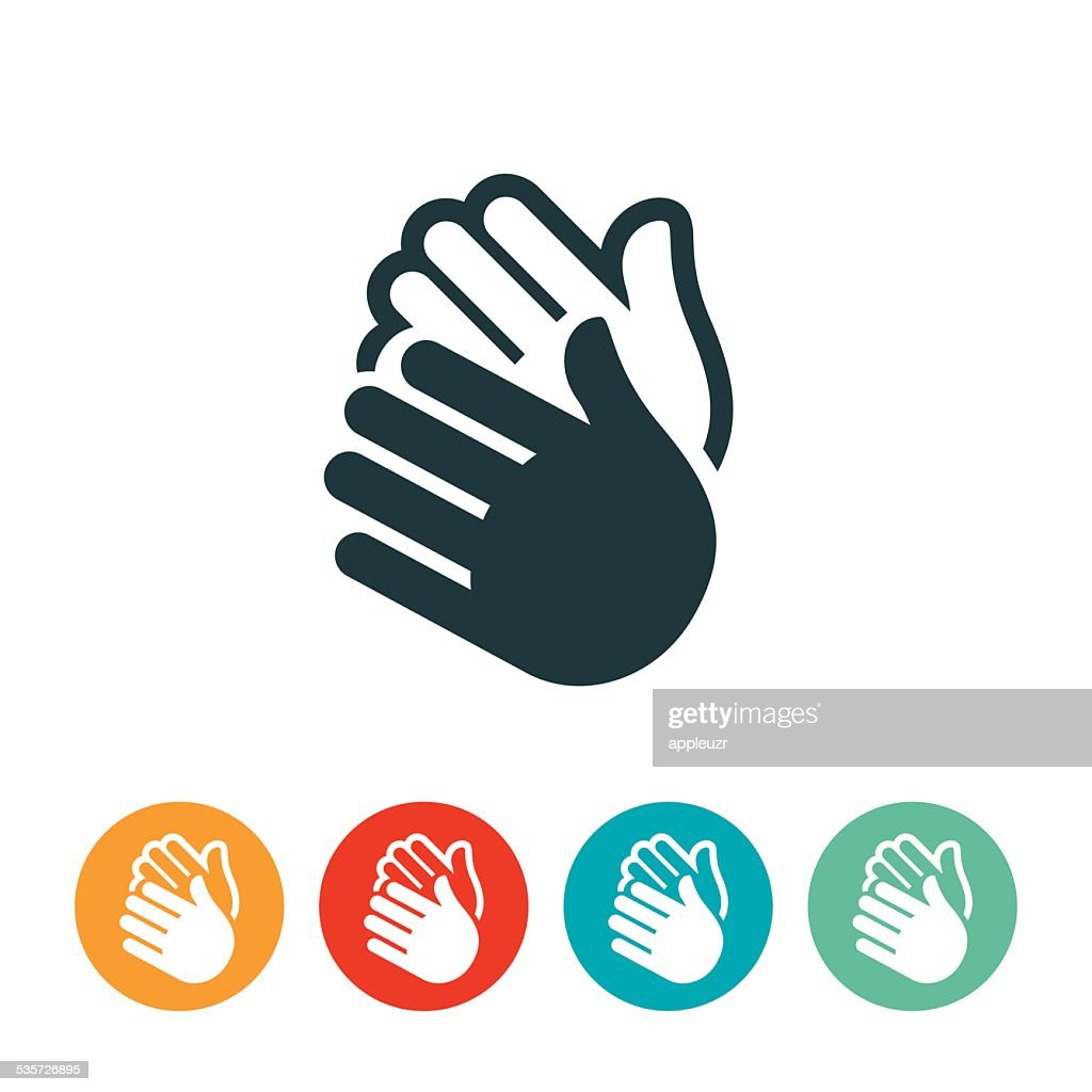 Clapping Hands Icon : Stock Illustration