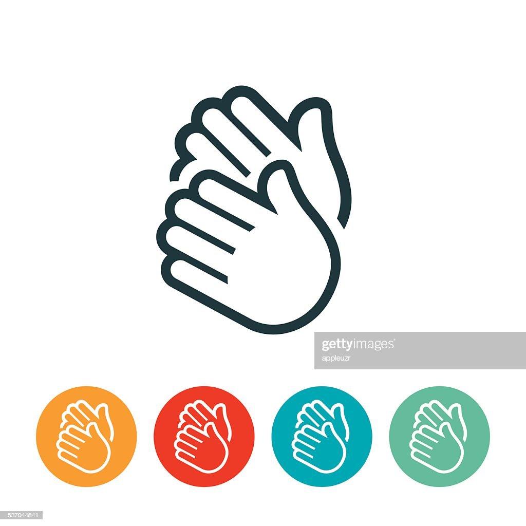 Clapping mãos ícone : Ilustração