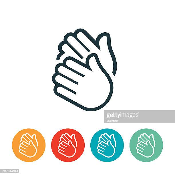 clapping hands icon - applauding stock illustrations, clip art, cartoons, & icons