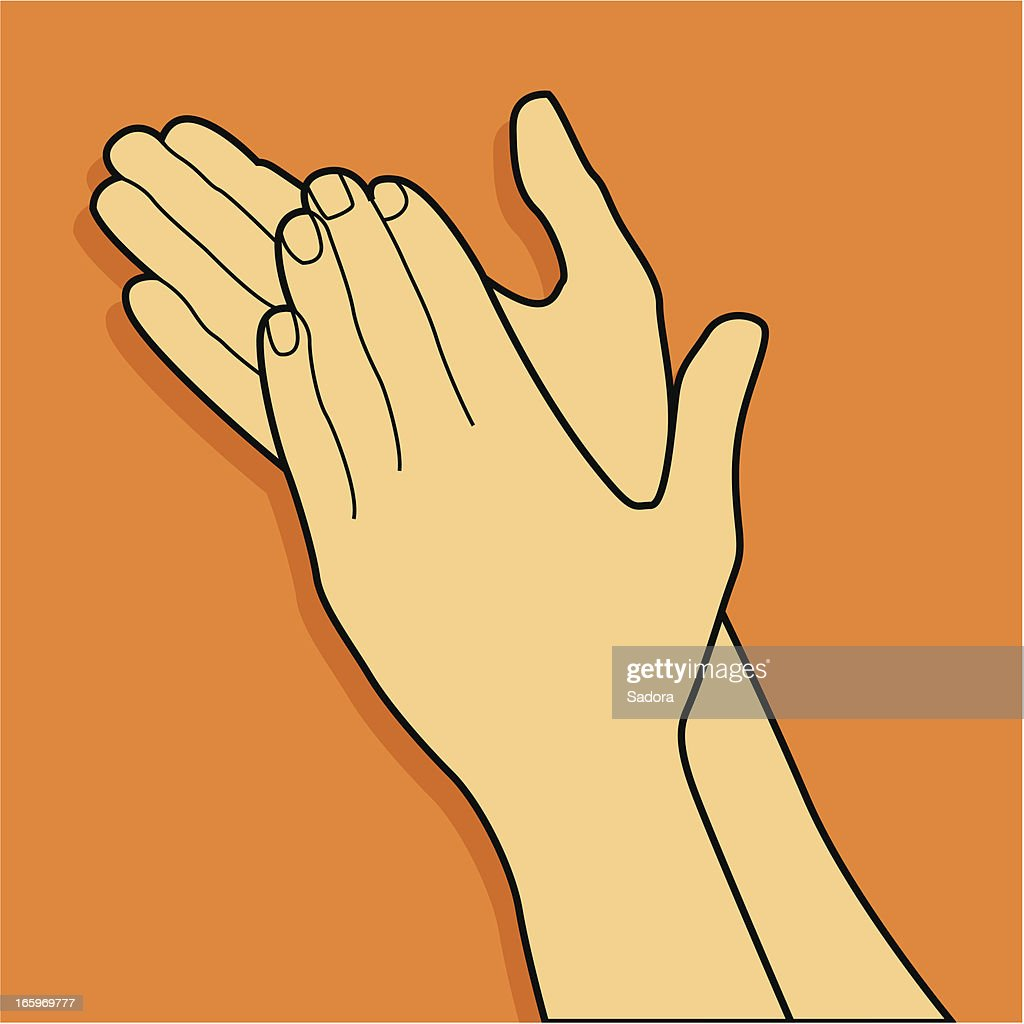 Clapping hands : stock illustration