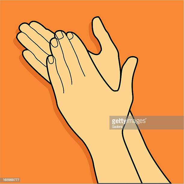 clapping hands - applauding stock illustrations, clip art, cartoons, & icons