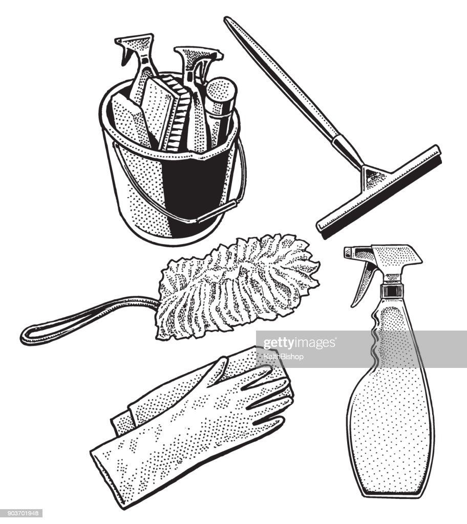 Class Cleaning Equipment : stock illustration