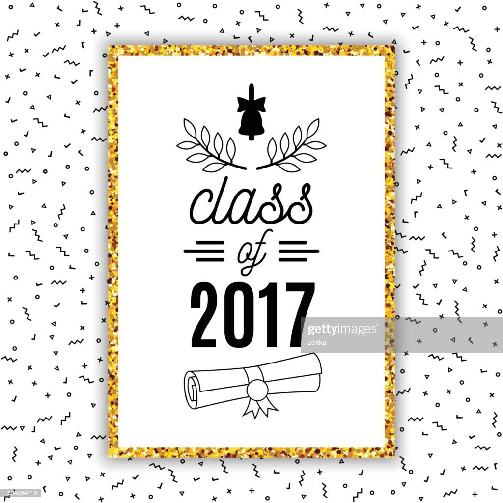 Class of 2017 graduation greeting card with bell scroll and laurel class of 2017 graduation greeting card with bell scroll and laurel on retro style background stopboris Gallery