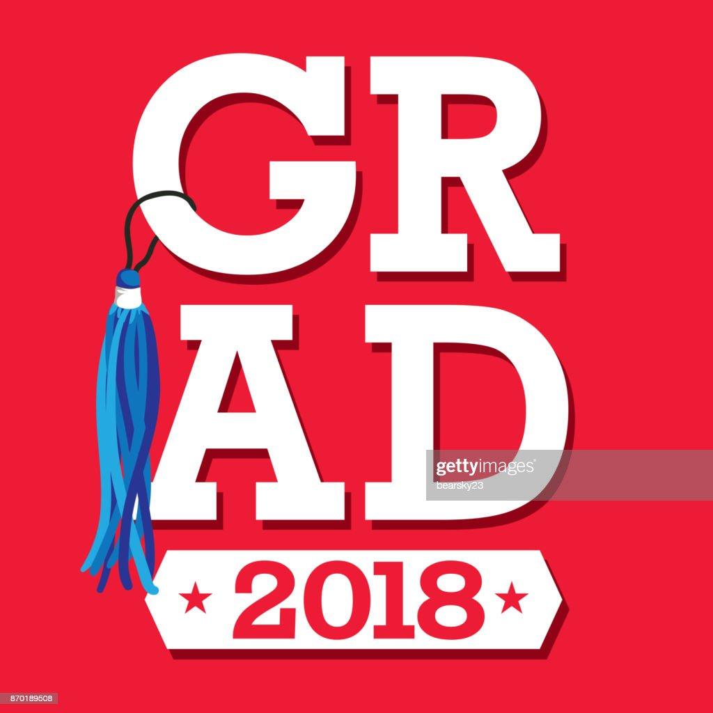 Klasse 2018 Herzlichen Glückwunsch Diplom Typografie Vektorgrafik ...
