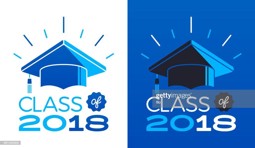 Class of 2018 : stock illustration