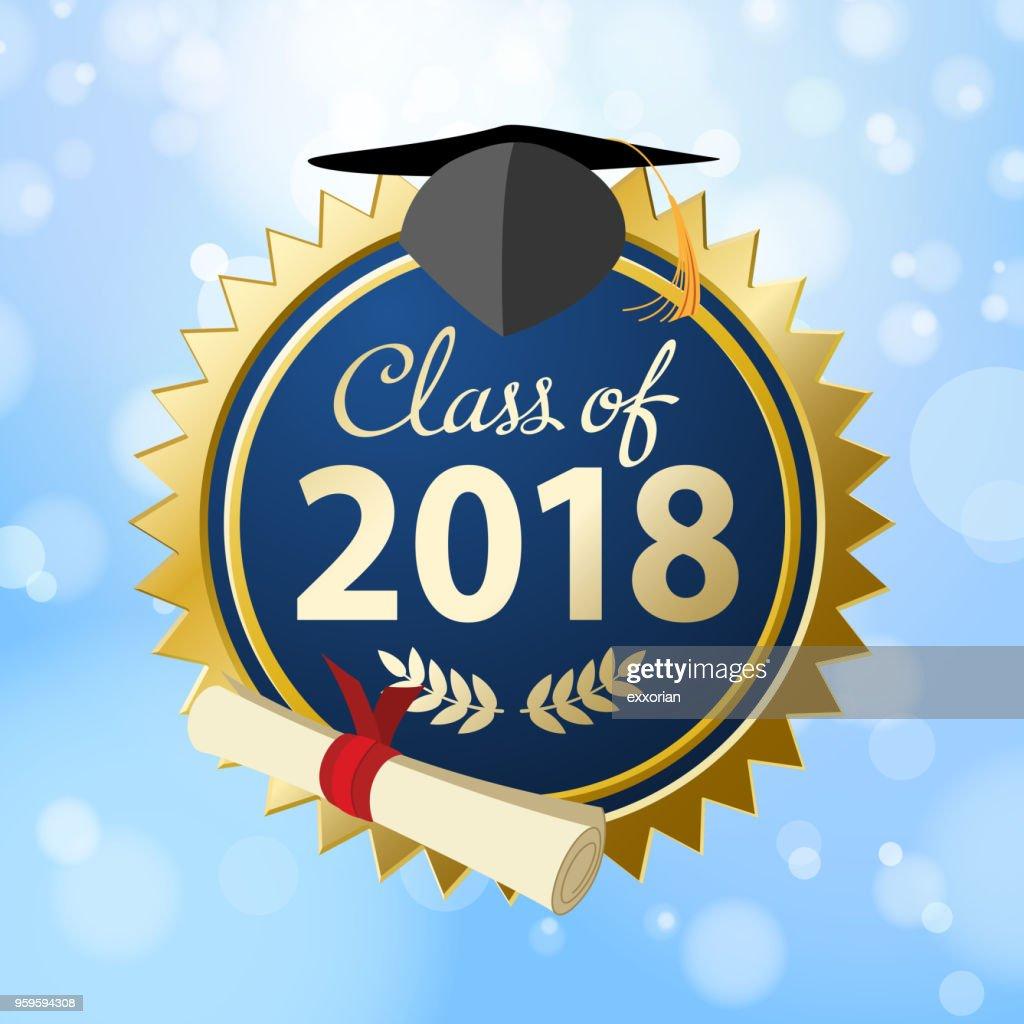 Klasse von 2018 : Stock-Illustration