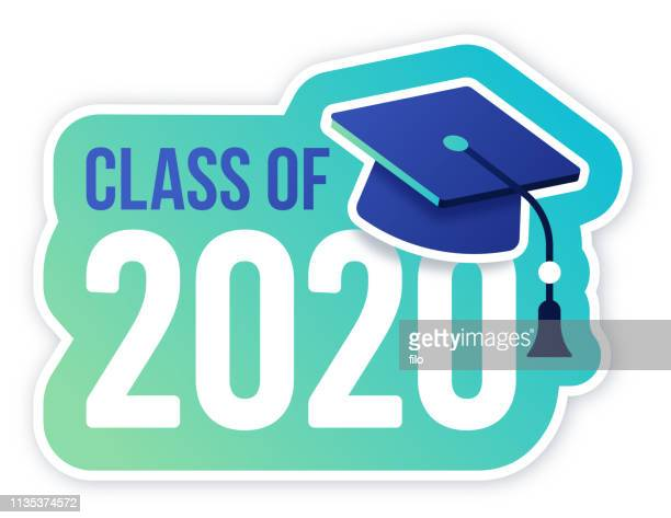 class of 2020 graduation celebration - learning stock illustrations