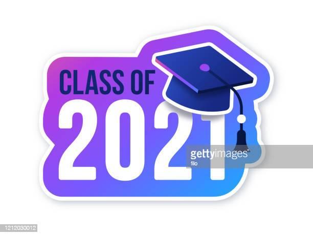 class of 2021 celebration - 2021 stock illustrations