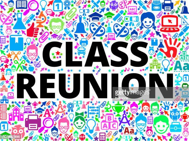 class reunion school and education vector icon background - school child stock illustrations, clip art, cartoons, & icons