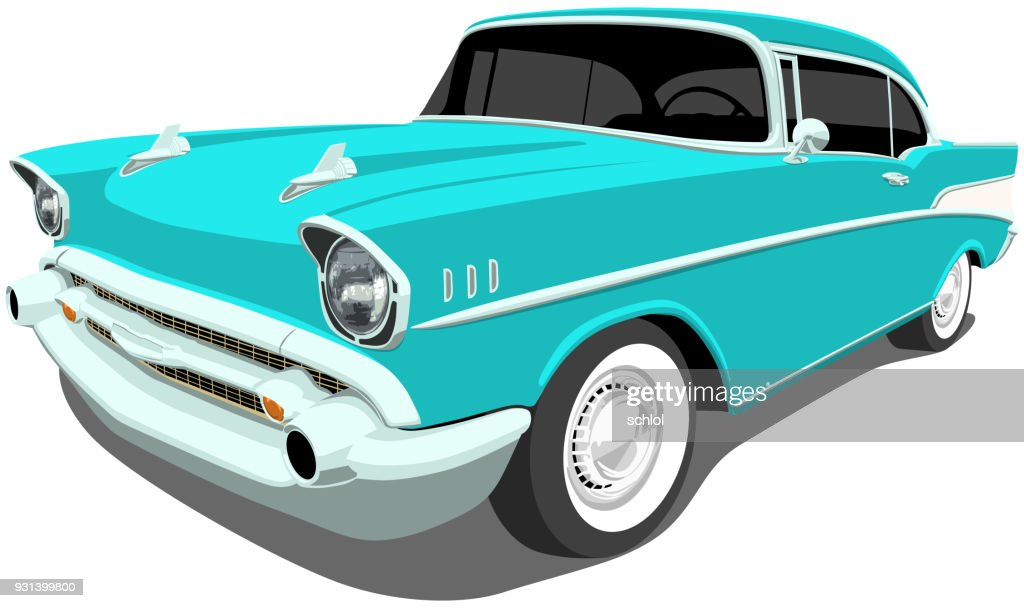 1957 Classic American Car : Stock Illustration