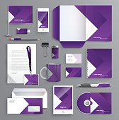 Classic and professional stationery template design