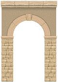 Classic antique arch