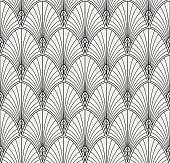 Classic art deco seamless pattern. Geometric stylish ornament. Vector antique texture.