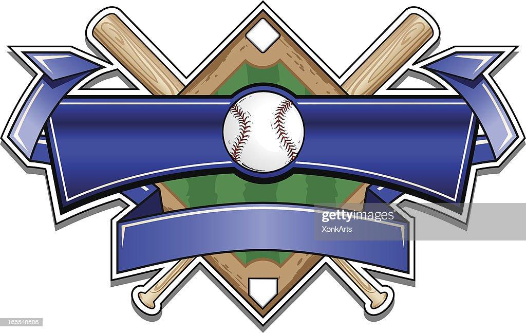 Classic Baseball Banner Logo